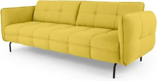 An Image of Maverick 3 Seater Sofa, Mustard Yellow