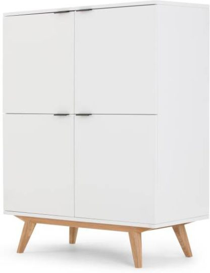 An Image of Aveiro Cabinet, Natural Oak and White