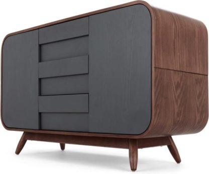An Image of Esme Sideboard, Dark Stain Ash and Grey