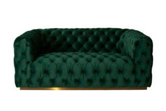 An Image of Frankfurt Two Seat Sofa - Bottle Green