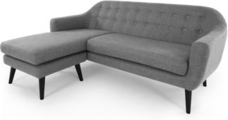 An Image of Ritchie Chaise End Corner Sofa, Pearl Grey