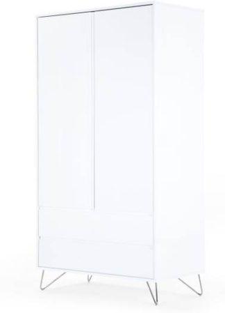 An Image of Elona Wardrobe, White Gloss & Chrome