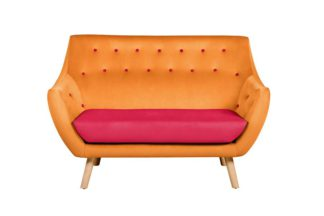 An Image of Poet Sofa, Luxor Orange Two Tones
