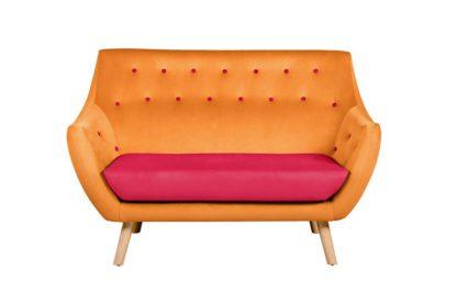 An Image of Poet Sofa, Luxor Orange Two Tones