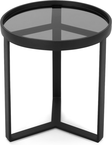 An Image of Aula Side Table, Black and Grey