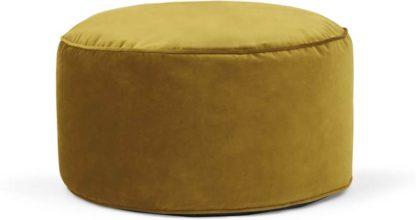 An Image of Lux Velvet Floor Cushion, Antique Gold velvet