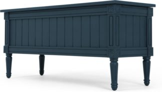An Image of Bourbon Vintage Ottoman Bench, Dark Blue
