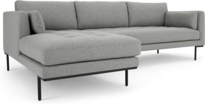 An Image of Harlow Left Hand Facing Chaise End Corner Sofa, Mountain Grey