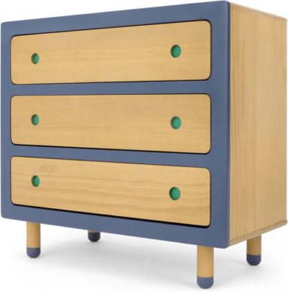 An Image of Chase Chest of Drawers, Pine and Blue