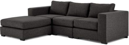 An Image of Mortimer 4 Seater Modular Corner Sofa, Seal Grey