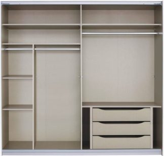 An Image of Malix 225cm Sliding Wardrobe Premium Interior Package