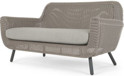 An Image of Jonah Garden 2 Seater Sofa, Light Grey