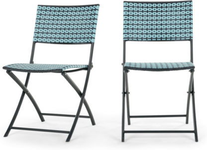 An Image of Set of 2 Pya Dining Chair, Cadillac Blue and Black
