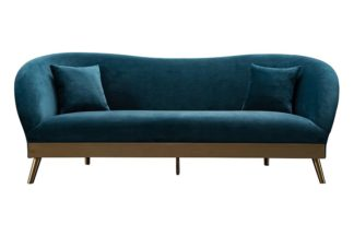 An Image of Lapio Three Seat Sofa - Peacock