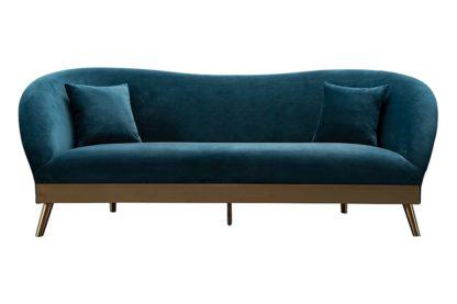 An Image of Lapio Three Seat Sofa - Peacock