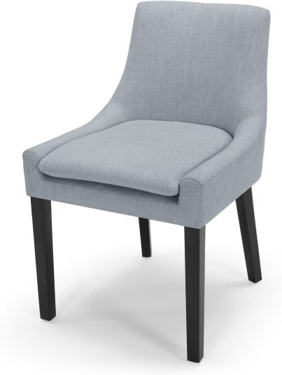 An Image of Percy Scoop Back Chair, Persian Grey
