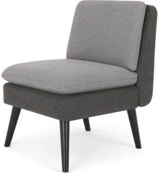 An Image of MADE Essentials Reagan Accent Armchair, Marshmallow Grey