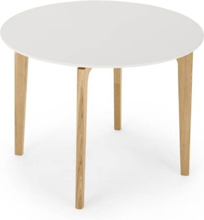 An Image of Buren 4 Seat Round Dining Table, HPL and Ash