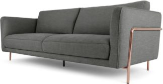 An Image of Everson 3 Seater Sofa, Shuttle Grey Copper leg