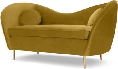 An Image of Kooper 2 Seater Sofa, Vintage Gold Velvet