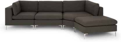 An Image of Monterosso Right Hand Facing Modular Chaise End Sofa, Oyster Grey
