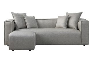 An Image of Max Three Seat Corner Sofa - Silver