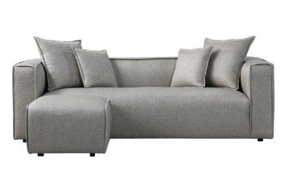 An Image of Max Three Seat Corner Sofa - Silver