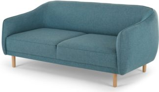 An Image of Haring 3 Seater Sofa, Azure Blue