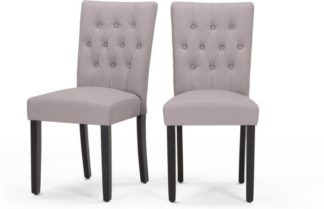 An Image of Flynn Set of 2 Dining Chairs, Pewter Grey