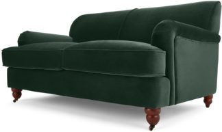 An Image of Orson 2 Seater Sofa, Autumn Green Velvet