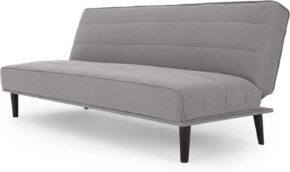 An Image of MADE Essentials Kitto Click Clack Sofa Bed, Marshmallow Grey