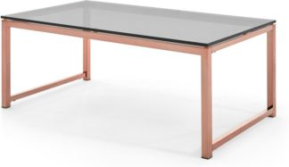 An Image of Suki Coffee Table, Smoked Glass and Copper