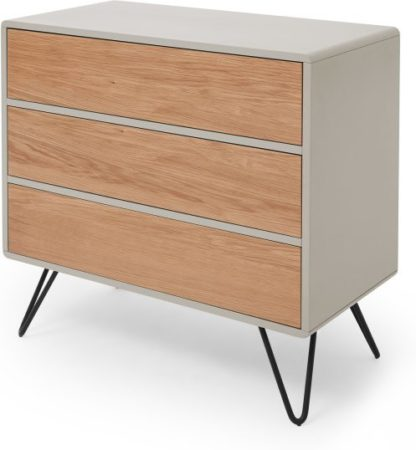 An Image of Ukan Chest of Drawers, Grey and Oak