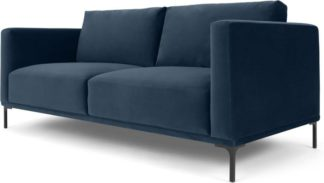 An Image of Milo Large 2 Seater Sofa, Sapphire Blue Velvet