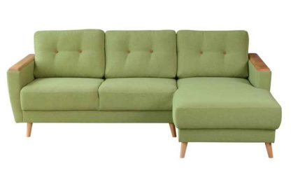 An Image of Expo Right hand Corner Sofa Malaga Apple Green