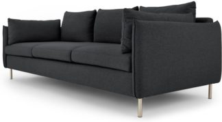 An Image of Vento 3 Seater Sofa, Sterling Grey