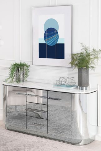 An Image of Anastasia Sideboard with Chrome Details