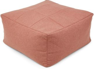 An Image of Loa Quilted Floor Cushion, Dusk Pink