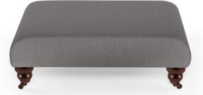 An Image of Orson Footstool, Graphite Grey