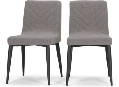 An Image of Set of 2 Lex Dining Chairs, Graphite Grey