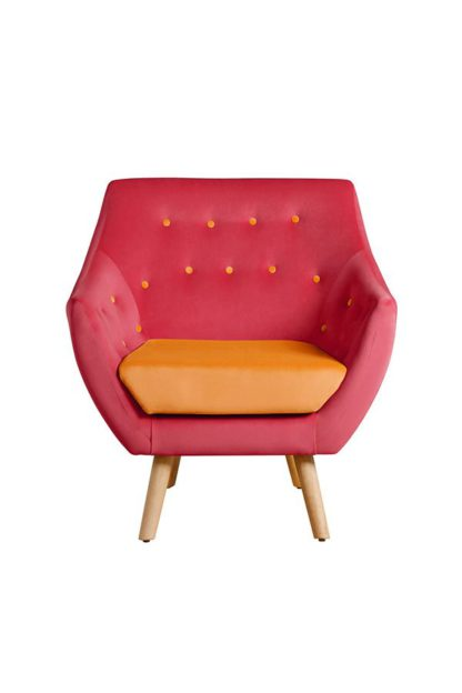 An Image of Poet Armchair, Luxor Cranberry Two Tones