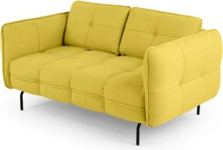 An Image of Maverick 2 seater sofa, Mustard Yellow