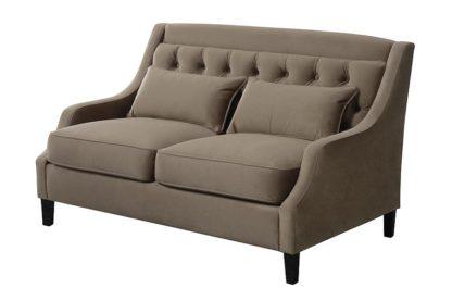 An Image of Zeno 2 seat Sofa Genova Taupe