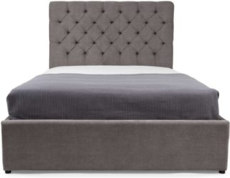 An Image of Skye Double Bed with Storage, Pewter