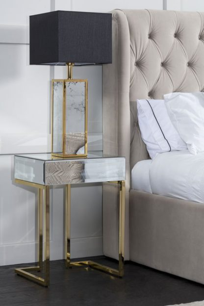 An Image of Lorenzo Toughened Mirror Side Table