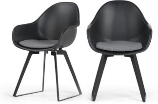 An Image of Set of 2 Boone Dining Chairs, Black