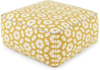 An Image of Trio Bean Bag Pouffe, Gold & Cream