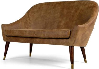 An Image of Seattle 2 seater Sofa, Outback Tan Premium Leather