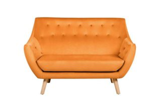 An Image of Poet Sofa, Luxor Orange Single Tone