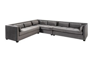 An Image of Berkley Large Left Hand Corner Sofa - Dove Grey